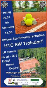 Flyer Offene Stadtmeisterschaft 2021 HTC SW Troisdorf